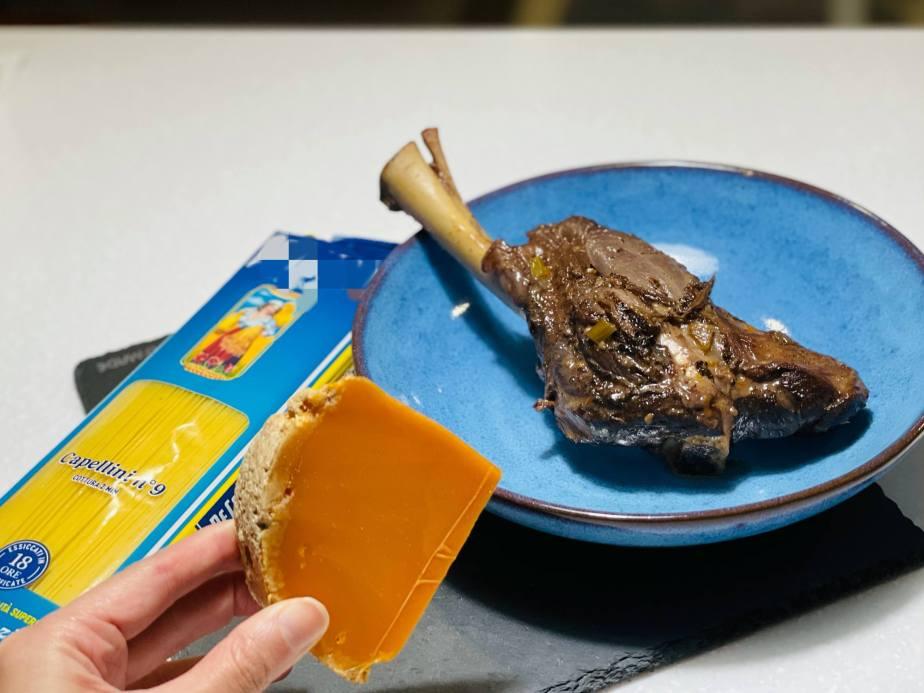 歐洲乳酪精選 Mimolette 燉羊膝天使麵